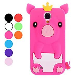 Mini - Lovely Cartoon Pig with Crown Soft Case for Samsung Galaxy S4 I9500 ,Color: Rose