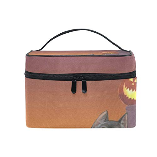 Cosmetic Bag Celebration Of Halloween Cat Womens Makeup