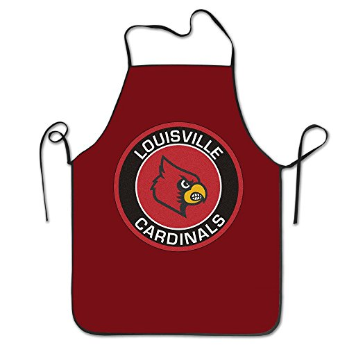 LH NCAA Team Louisville Cardinals Club Logo.jpg Bib Apron Chef Apron Cooking Apron Professional Apron For Cooking,Grill And Baking (28''x20'')