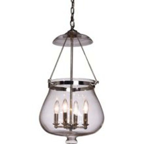 Artcraft Lighting Apothecary 4-Light Urn Light, Chrome (Apothecary Foyer Light)