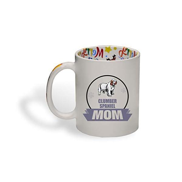 Ceramic Christmas Coffee Mug Mom Clumber Spaniel Dog Funny Tea Cup 1