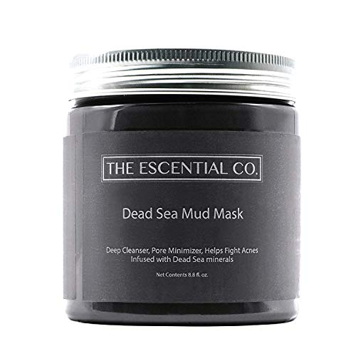 Dead Sea Mud Mask - 8.8 fl. Oz. - Facial Mask for Skin Care, Face Peel and Pore Reducer, Infused with Dead Sea Minerals - The Escential Co. -