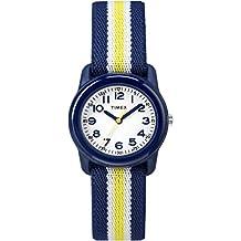 Timex Kid's TW7C058009J Boys Blue and Yellow Strip Analog Watch