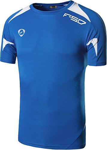 Sportides Big Boy's Quick Dry Active Sport Short Sleeve Breathable Tshirts T-Shirts Tees Tops LBS705 Blue XL
