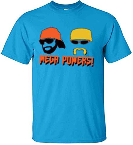 Blue Hogan Macho Man Mega Powers T-Shirt Adult -