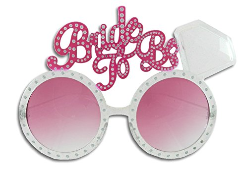 Bachelorette Bride Diamond Ring Glasses