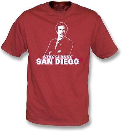 Ron Burgundy - Camiseta con clase de San Diego de la estancia ...