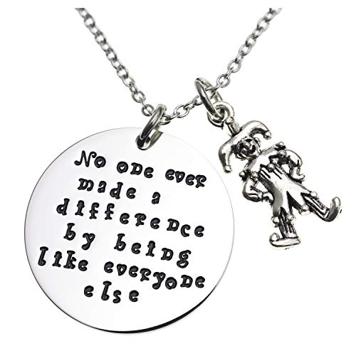 LParkin No One Ever Made a Difference by Being Like Everyone Else Circus Charm Necklace for Her Quote Necklace Charm Inspirational Gifts for Her The Greatest Showman Movie (Necklace)