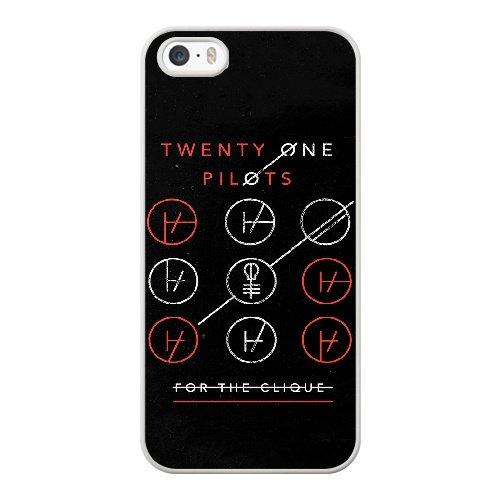 Coque,Apple Coque iphone 5/5S/SE Case Coque, Generic Twenty One Pilots Blurryface Cover Case Cover for Coque iphone 5 5S SE blanc Hard Plastic Phone Case Cover