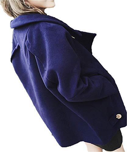 Manche Automne Large Hiver Longues Loisir Elgante Costume Uni Warm Femme Longues Coat Outwear Branch Revers paisseur Marine Manches Manteau Y8OXwn