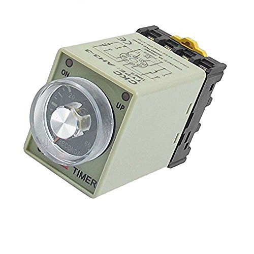 ZYHW AC 110V 0-60 Seconds 8P Screw Resistive Load Delay Timer Time Relay w Base