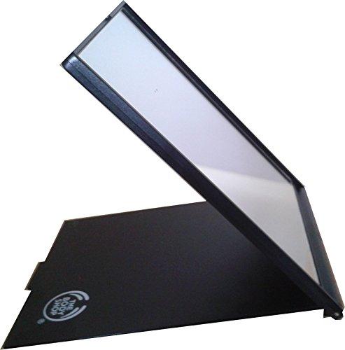 Rasierspiegel Make up Spiegel-Schwarz Klappspiegel mit Abdeckung ca. 14 cm x 11 cm