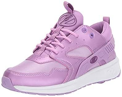Heelys Girls' Force Tennis Shoe, Violet/Grape, 2 M US Big Kid