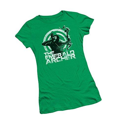 The Emerald Archer -- CW's Arrow TV Show Juniors T-Shirt, Medium (Arrow Dc Shirt)