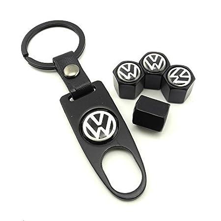 iDoood Tire Valve Caps for VW Volkswagen Silver
