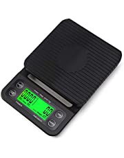 Zhg Coffee Scale with Timer, High Accuracy Kitchen Food Scale with Tare Function
