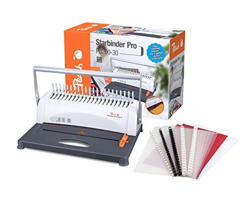 Peach PB200-30 Plastikbindegerät A4, bis 350 Blatt - inkl. 15-teiligem Starterset