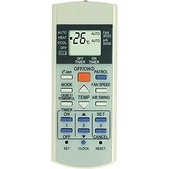 Panasonic Air Conditioner Remote Manual Basic Instruction Manual