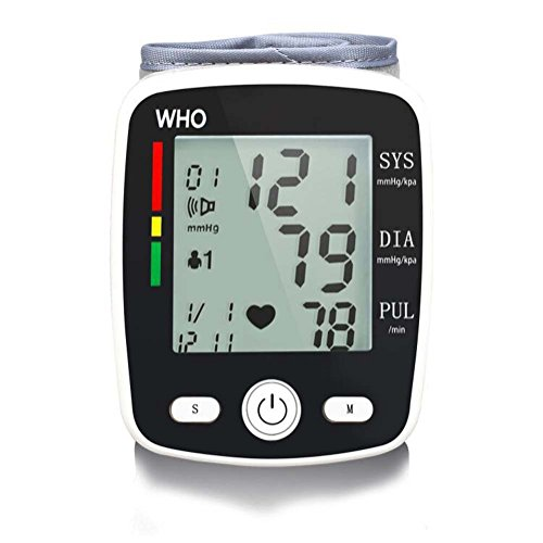 Wrist Sphygmomanometer Pulse Meter Measurements FDA Approved Large-Screen Display Wristband, Voice Broadcast,Charging blood pressure meter, Portable or Home Use