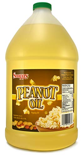 Snappy Popcorn 1 Gallon Snappy Pure Peanut Oil No Color Added, 128 Fl Oz (Best Healthy Cooking Oil For Frying)