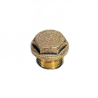 M24X2 Parker 0201 92 00 Plug Brass Hexagon Head with Collar Male Metric