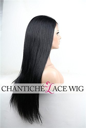 Chantiche-Silky-Straight-Silk-Top-Lace-Front-Wig-For-African-Americans-Brazilian-Remy-Human-Hair-Full-Wigs-With-Baby-Hair-130-Density-Medium-Brown-Lace