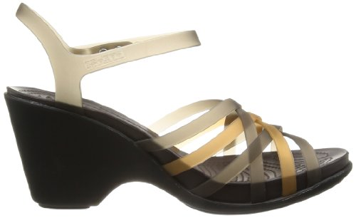 Crocs Huarache / Sandalias para mujer Oro (Bronze/Espresso)