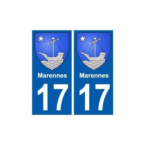 17 Marennes blason ville autocollant plaque sticker - droits