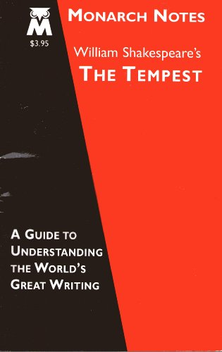 William Shakespeare's The tempest (Monarch notes)