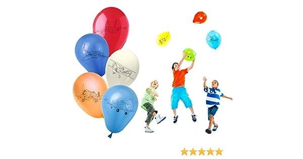 PB10066 Pack de 30 globos con motivo de AVIONES/PLANES – decoración para fiestas: Amazon.es: Juguetes y juegos