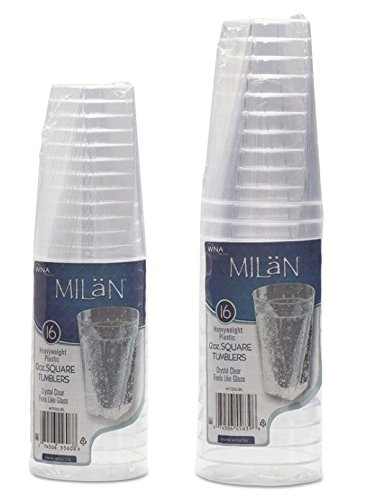 WNA Milan 16 Count Tumblers, 10 oz, Clear