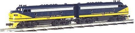 Bachmann 20706 A C and O F-7 A-B-A Set Locomotive Model Train Set