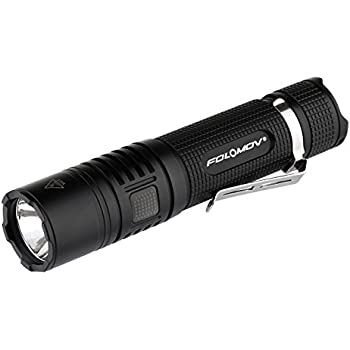 Power Bank and a FOLOMOV B5M XHP50.2 2500 Lumens Rechargeable 26650 Led Torch
