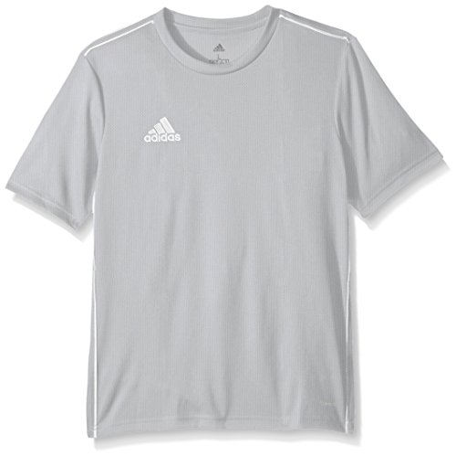 adidas Unisex adidas Youth Soccer Core18 Training Jersey, Stone/White, Medium - Youth White Football Jersey