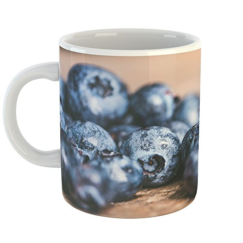 Westlake Art - Coffee Cup Mug - Blue Blueberry - Modern Picture Photography Artwork Home Office Birthday Gift - 11oz (x9m-f71-2fe) Blueberry Pie Collection