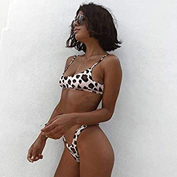 Amazon.com: Traje de baño Sexy Leopard Bikinis 2019 Micro ...