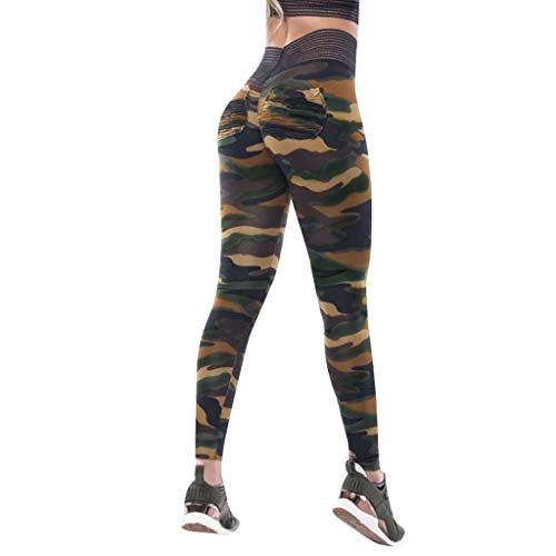 (CCatyam Yoga Pants for Women, Trouser Workout Leggings Fitness Camouflage Print Sports Fashion )