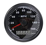 ELING Universal MPH GPS Speedometer Odometer 160MPH For Car Motorcycle Tractor Truck With Backlight 85mm 12V/24V