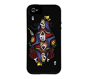 Gambling Queen iPhone 5/5s Black Tough Phone Case - Design By Humans