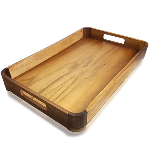 ht Serving Tray with handles, 18.5 x 12 Inch ()