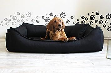 Cama para perro DONALD ORTO Vital Anti-pelo 100cm L negro Revestimiento de teflón con Colchón de confort: Amazon.es: Productos para mascotas