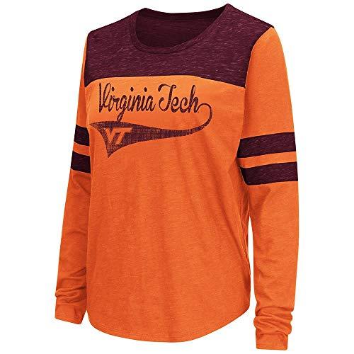 (Colosseum Womens Virginia Tech Hokies Long Sleeve Tee Shirt -)