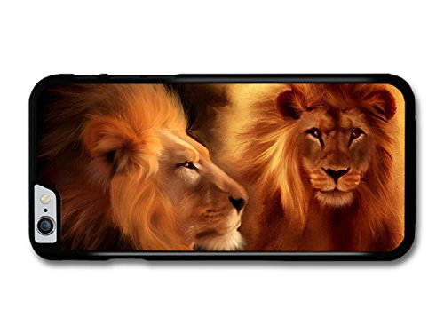 Two Lions Illustration King of the Jungle coque pour iPhone 6 Plus 6S Plus
