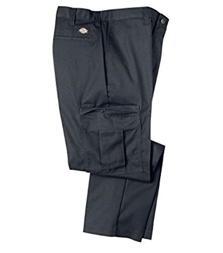 Dickies Occupational Workwear 2112372DC 32x30 Polyester/Cotton Relaxed Fit Men's Premium Industrial Cargo Pant with Straight Leg, 32