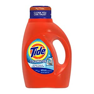 Tide ColdWater HE Fresh Scent, 50-Ounce Bottles (Pack of 6)
