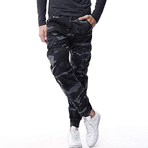 Casual Armeeblau Long Cool Hommes Cargo Camouflage Jogging Haidean Coton Moderne 3066 Travail Pants Pour Confort ZF8Bq