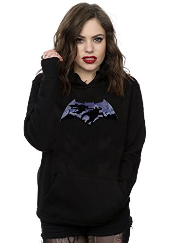 DC Comics Women's Batman v Superman Battle Silhouette Hoodie X-Small Black (Mens Hoodie Silhouette)
