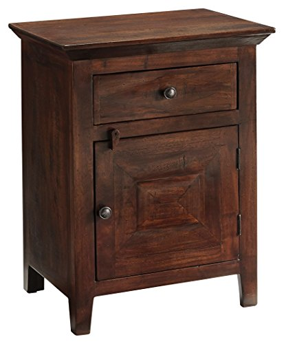Ashley Furniture Signature Design   Charlowe Nightstand   Solid Acacia Wood Construction   Warm Brown