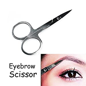 Hotab Professional Makeup Eyebrow Beauty Set with 24pcs Eyebrow Stencil, 5pcs Eyebrow Pencils, 6pcs Eye Brush, Eyebrow Scissor, 2pcs Eyebrow Tweezers, and 50pcs Sponge Stick