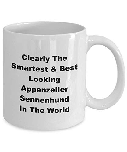 Clearly The Smartest Best Looking Appenzeller Sennenhund In The World Funny Novelty Coffee Cup Mug Gift Idea Stocking Stuffer 2